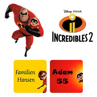 Klistermärken med Superhjältarna - Namnmärken med de coola ... a8a73b0ce7cb6