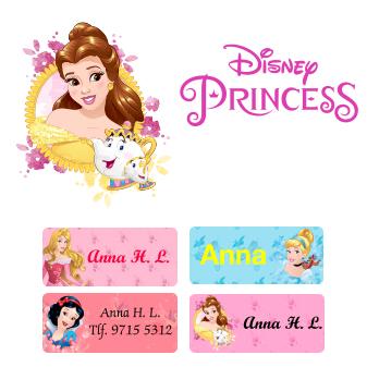 Sätt Disneys Prinsessor på dina namnmärken hos Ikast Etikett 65ff4b477da69