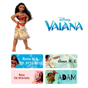 Få namnmärken med Disney´s Vaiana - Välj mellan många olika 47bca6b9ad927